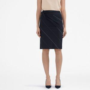 MM Lafleur Bowery Slant Stripe Skirt Navy 10
